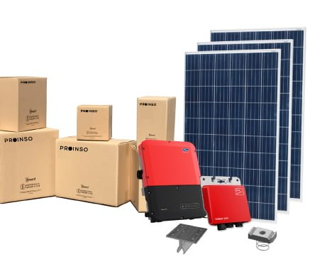 Plug and Play SMA Solar system and cardboard boxes