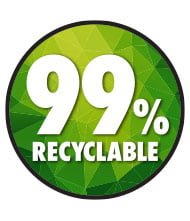 Trojan batteries 99% recyclable sign