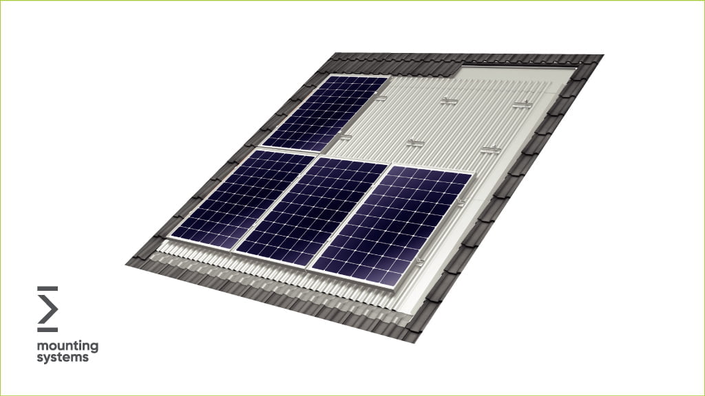 solar panel roof mounting structures