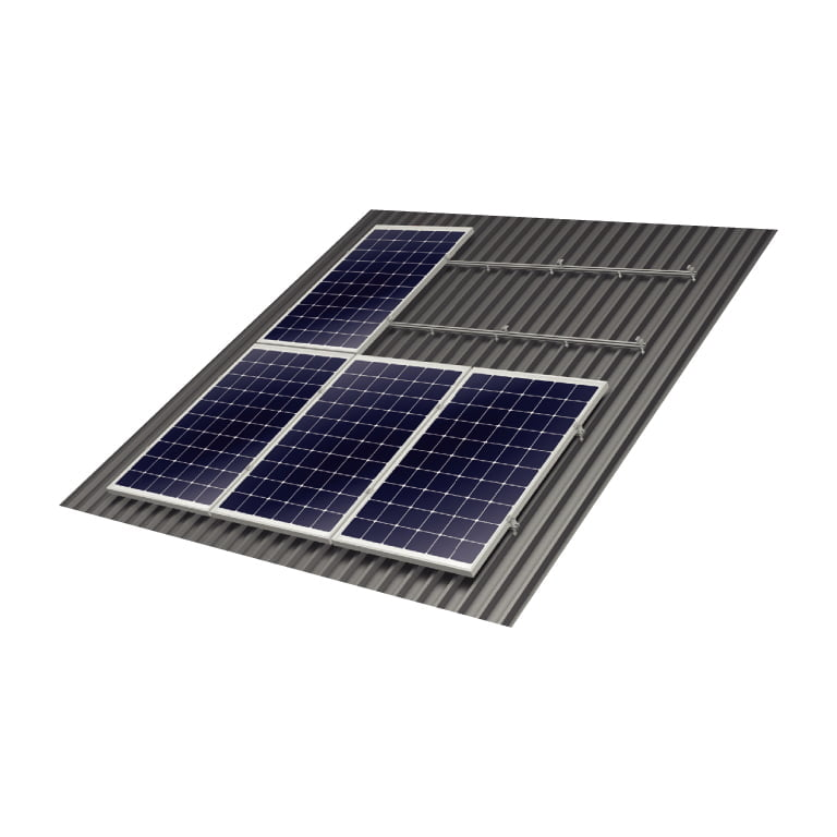 Solar panel mounting rooftop structures - On roof Trapeze Proline