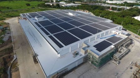 Solar rooftop project constructed by PROINSO and SOLAREN
